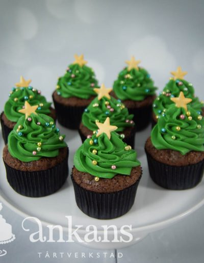 Cupcakes-julgranar