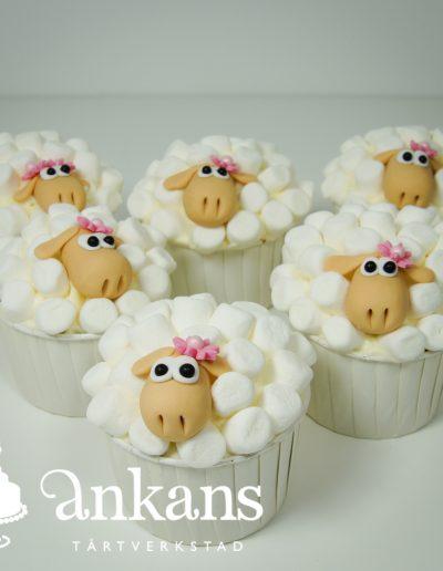 Får-cupcakes