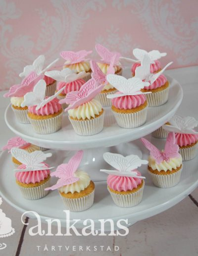 fjärilscupcakes