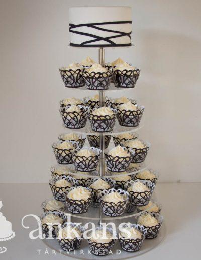 Brollop-cupcaketrad