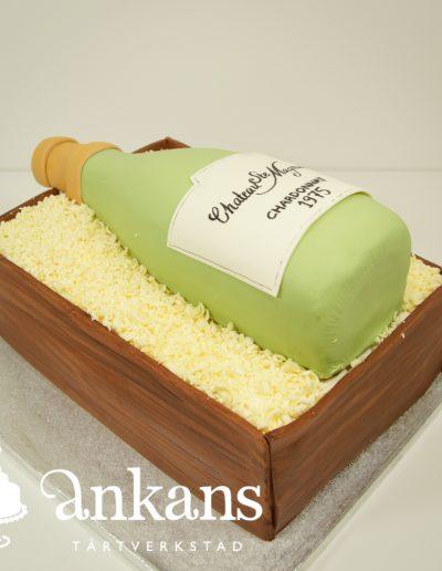 Champagne-tarta