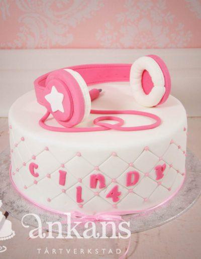 Tårta med hörlurar