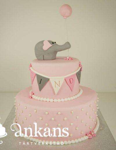 babytarta-med-elefant-och-ballong-i-rosa