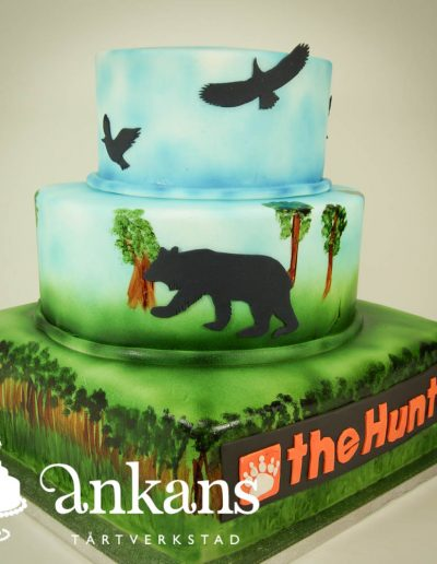 the-Hunter-cake-with-silouette