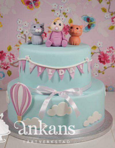 1-års tårta med luftballong
