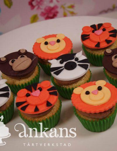 djungeldjur-cupcakes