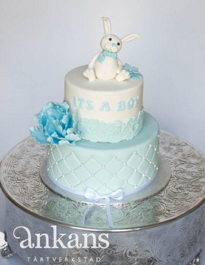 Babyshower-ljusblå